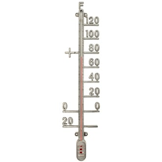 Zinc Outdoor Thermometer, $24