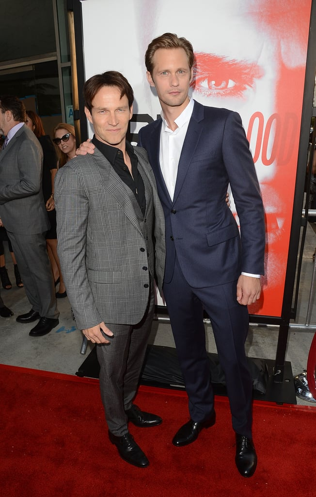 Alexander Skarsgard and Stephen Moyer posed together on the red carpet.