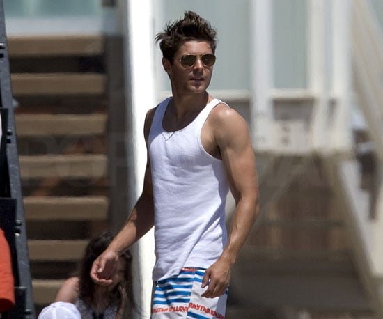 Slide Picture of Zac Efron at Beach in Malibu For Fourth of July