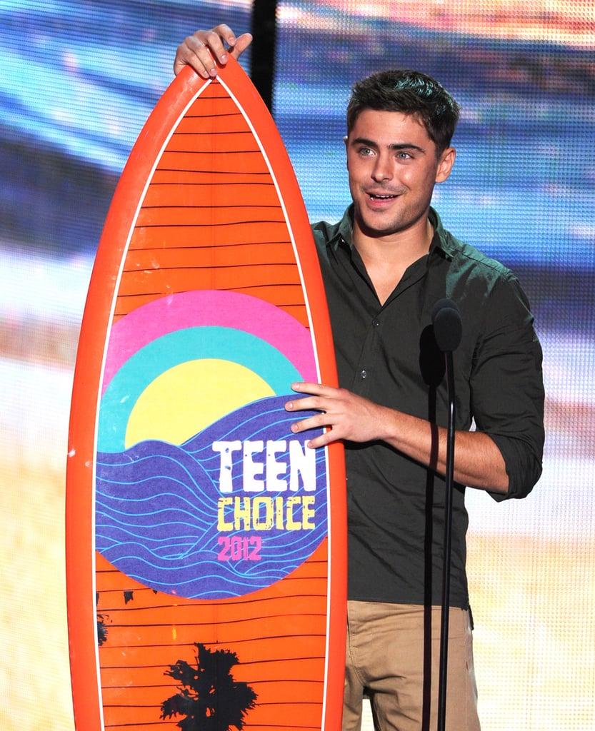 Zac Efron won an honour in 2012.