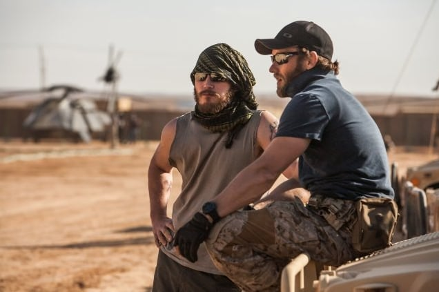 There are many Australian actors in the film, namely Joel Edgerton (pictured here on right with American actor Chris Pratt), Jason Clarke, Callan Mulvey and Joel's brother, Nash.