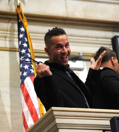 Pictures of Jersey Shore Cast Ringing Wall Street Bell