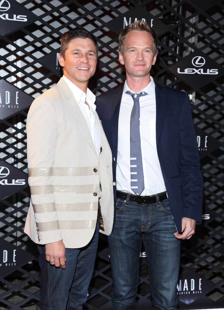 Neil Patrick Harris and David Burtka were two of the only celebrities who didn't wear black.