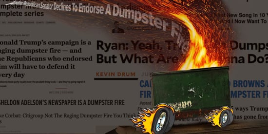 Where Did 'Dumpster Fire' Come From? Where Is It Rolling?