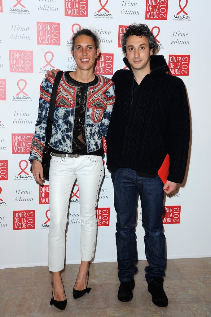 Power fashion couple Isabel Marant and Jérome Dreyfuss stepped out in a combination of ultimate Parisian-cool separates at the Sidaction Gala.