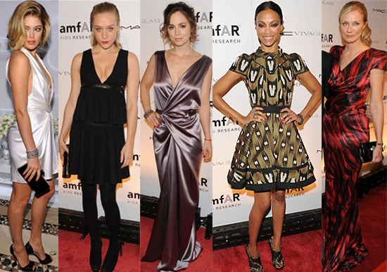 Photos of Celebs from New York Fashion Week amFAR Benefit Gala with Mary-Kate Olsen, Zoe Saldana, Meryl Streep, Chloe Sevigny,