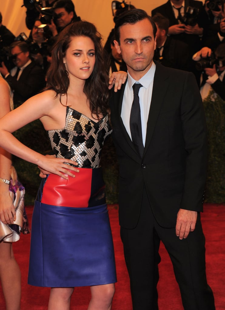 Kristen Stewart and Balenciaga designer Nicolas Ghesquiere arrived at the Met Gala together.