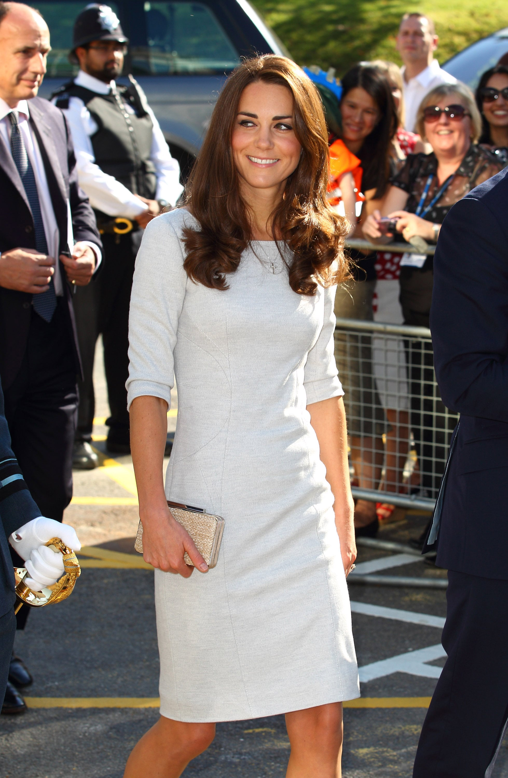 Kate Middleton walking into the Royal Marsden Hospital.