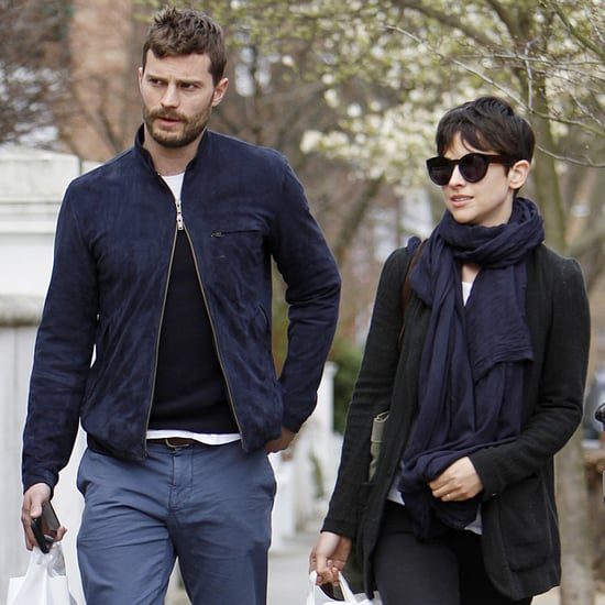 Jamie Dornan and Amelia Warner Walking in London