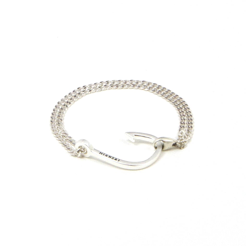 Hook on Silver Chain Bracelet, $95