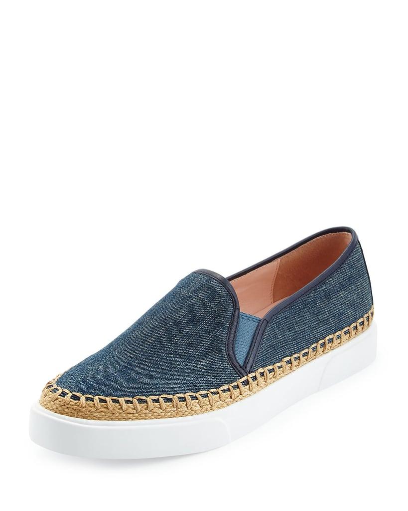 Kate Spade Cory Denim Slip-On Sneaker, Blue ($198)