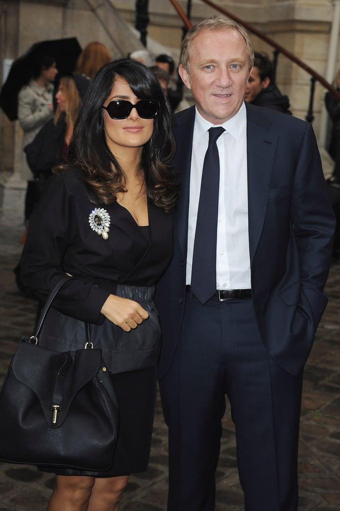 Salma Hayek and Francois-Henri Pinault posed together.