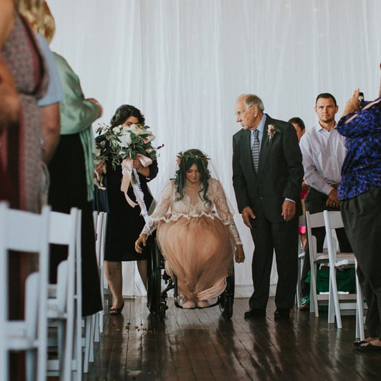 Bride Leaves Wheelchair to Walk Down the Aisle