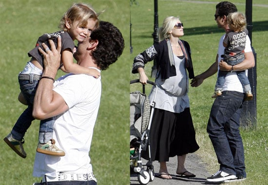 Photos of Kingston Rossdale, Gwen Stefani and Gavin Rossdale in London