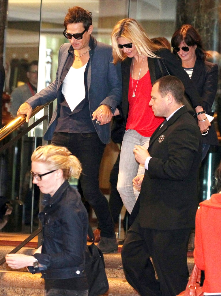 Kate Moss and Jamie Hince in Australia.