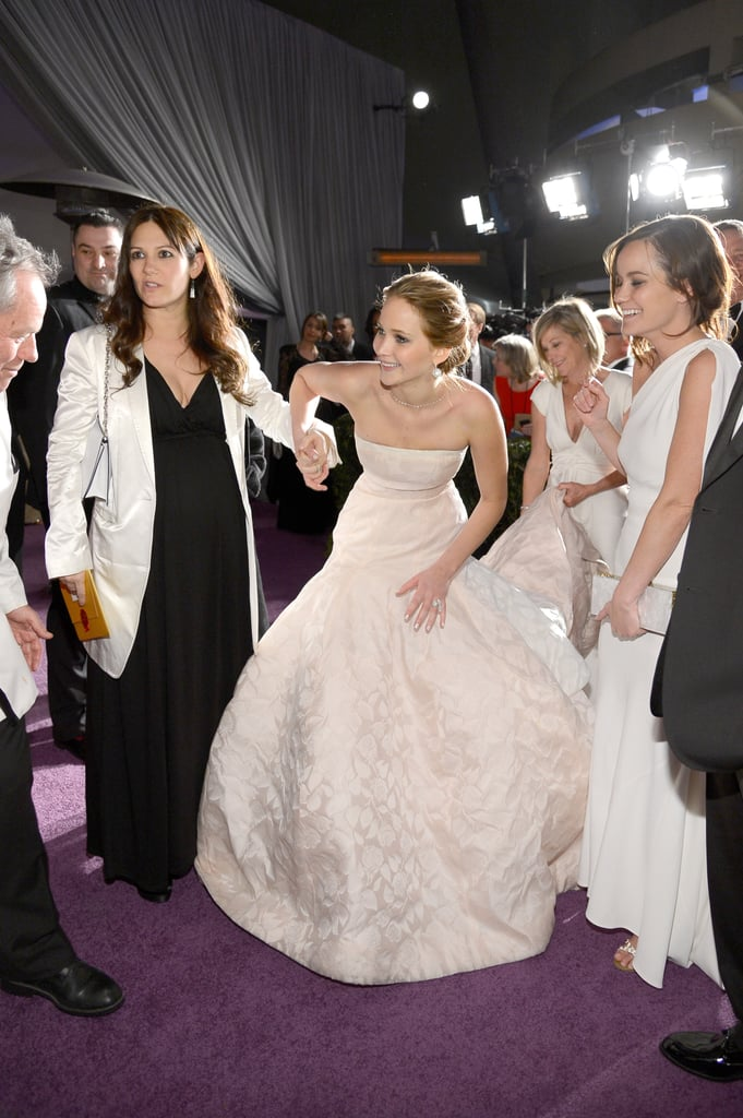 Jennifer Lawrence celebrated her Oscar win at the Governors Ball.