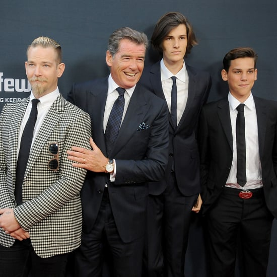 Pierce Brosnan Makes a Dapper Appearance With His Handsome Sons