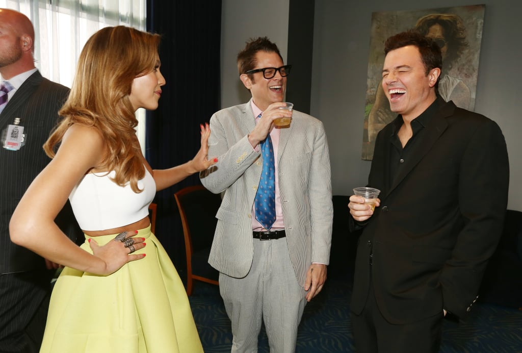 Jessica Alba, Johnny Knoxville, and Seth MacFarlane laughed it up behind the scenes.