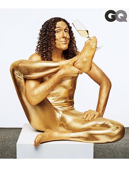'Weird Al' Yankovic Celebrates His Success with a Gold Lamé Bodysuit