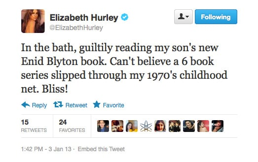 Who doesn't love a bit of Enid Blyton, right Liz?