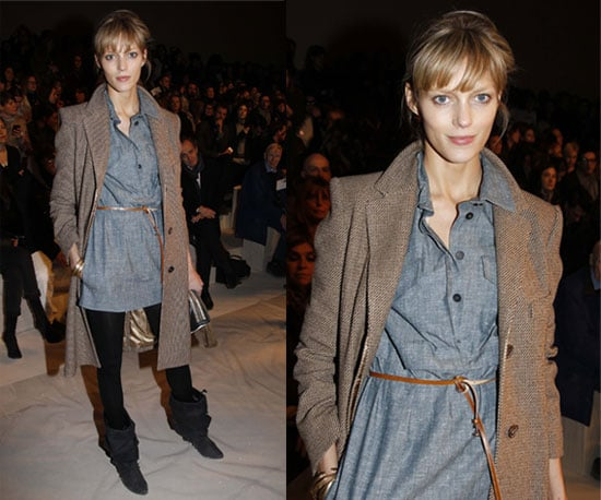 Anja Rubik at Chloe Paris Fashion Week Fall 2010