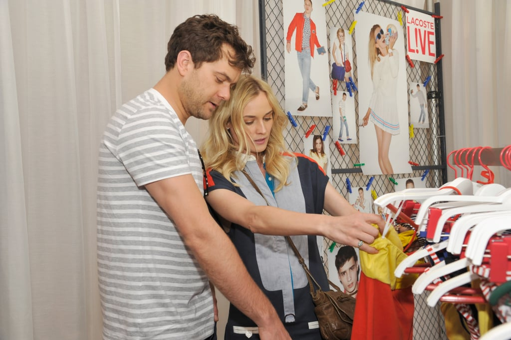 Diane Kruger and Joshua Jackson checked out Lacoste gear at the brand's party in 2012.