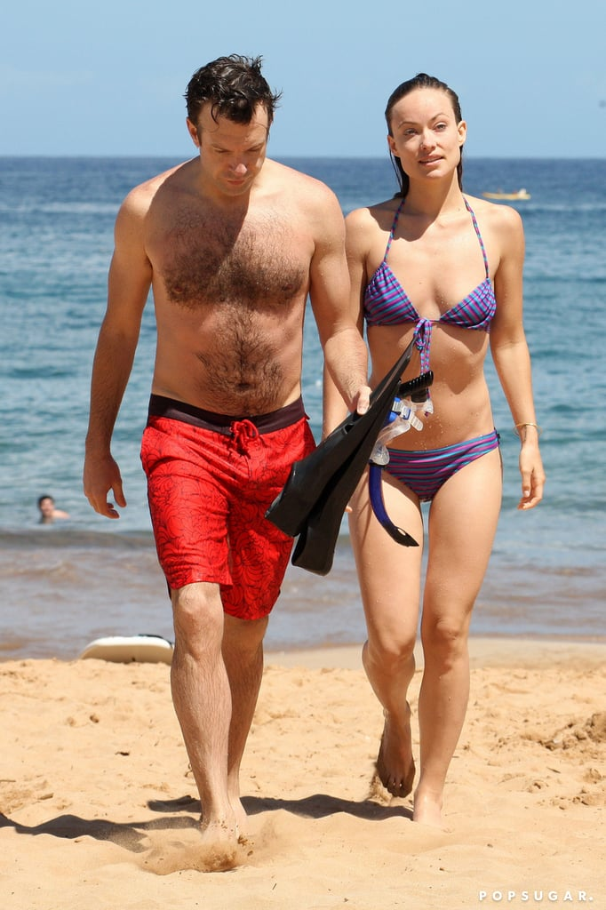 Jason Sudeikis and Olivia Wilde got away to Hawaii together in May 2013.