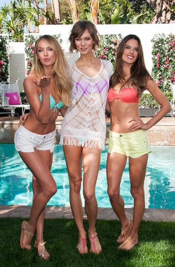 Candice Swanepoel, Karlie Kloss, and Alessandra Ambrosio donned bikinis in LA.