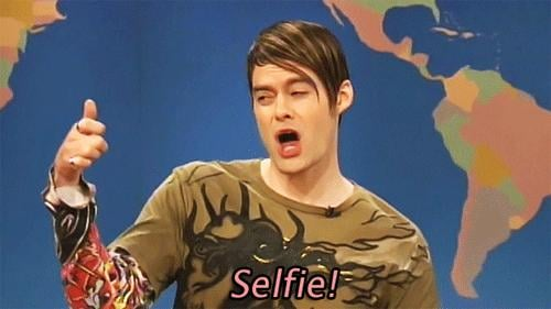 When You Have a Selfie Calendar So You Don't Post Too Many