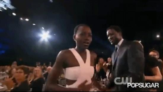 Lupita Nyong'o Won, and She Was Beside Herself in the Sweetest Way