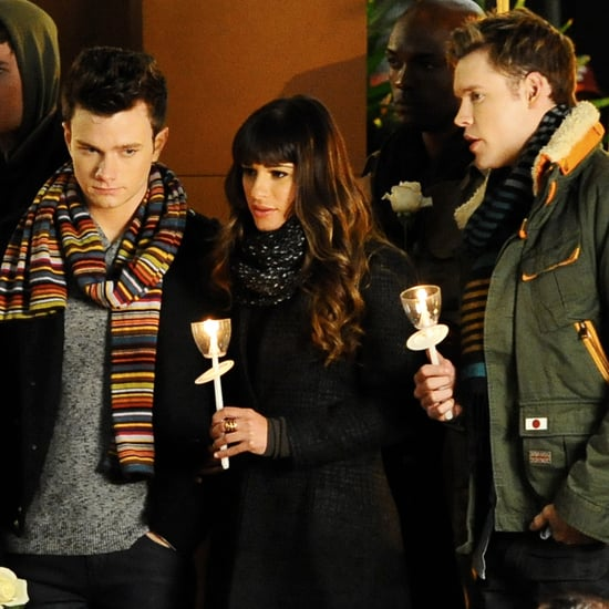 Glee Filming Candelight Vigil