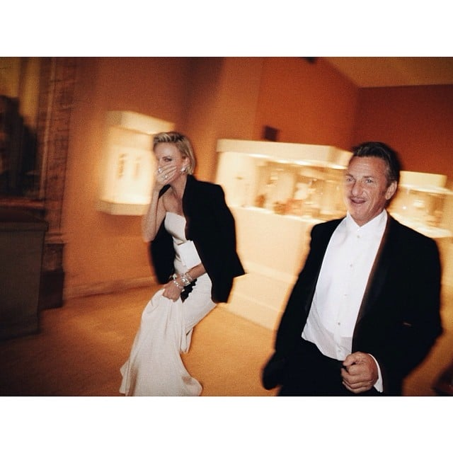 Charlize Theron and Sean Penn made an entrance. Source: Instagram user mariotestino