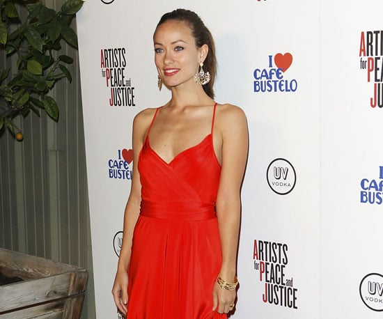 Slide Photo of Olivia Wilde at Artists For Haiti Event in LA