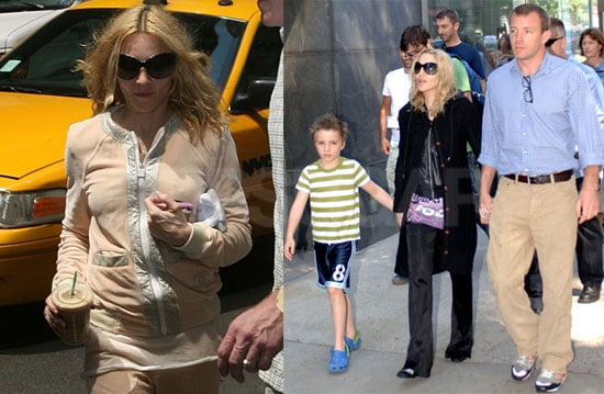 Photos of Madonna, Guy Ritchie, Lourdes Leon, Rocco Ritchie