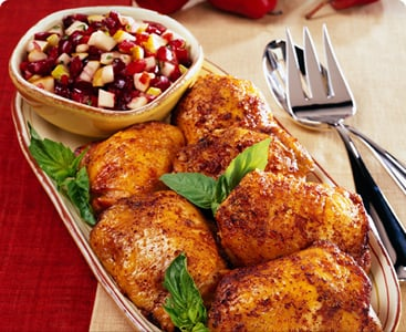 Monday's Leftovers: Roasted Chicken With Fall Fruit Salsa