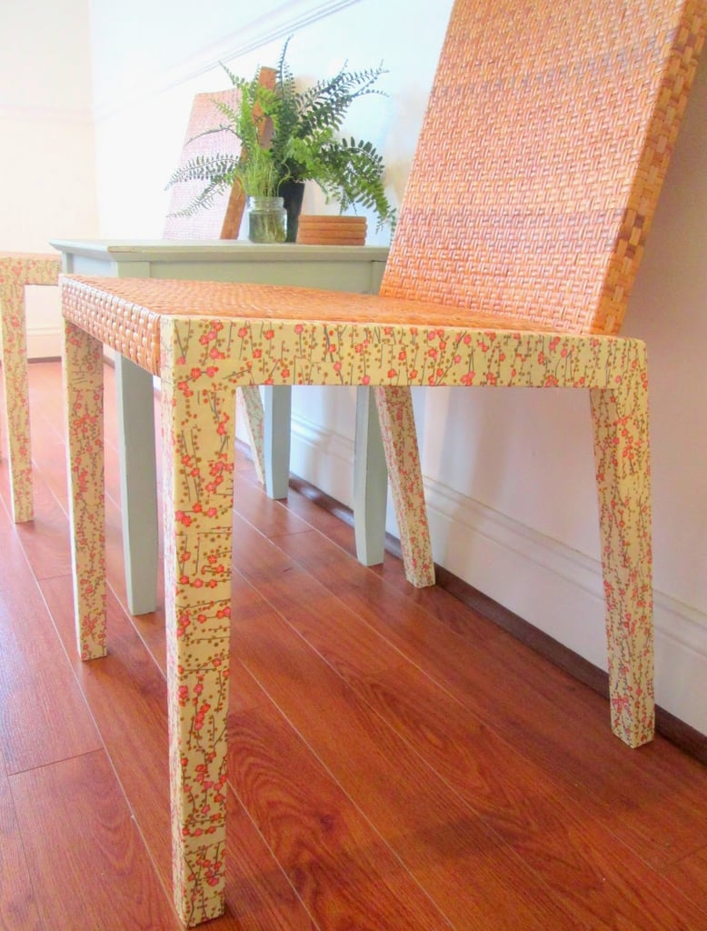 Turn the art of decoupage into decor with this simple DIY for Ikea chairs. Instead of using paint, give chairs a fresh, perfect-for-Spring look with paper decoupage. Source: Chelsea's Garage