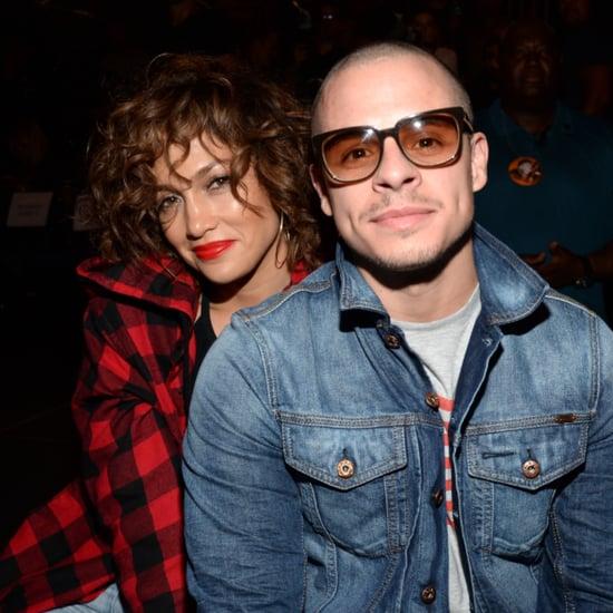 Jennifer Lopez and Casper Smart at Madonna's Concert