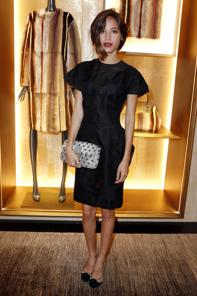 Kelsey Chow stepped out for the Fendi Avenue Montaigne store opening and the Glory of Water exhibition event. Source: