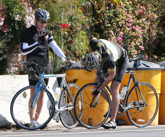 Photo of Jake Gyllenhaal Riding Bikes with His Friend Austin Nichols in LA