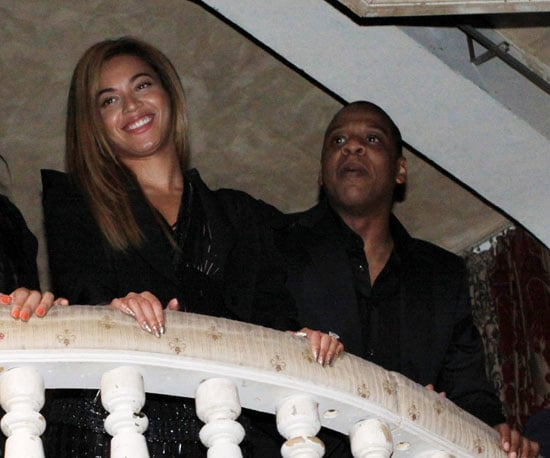 Slide Picture of Jay-Z and Beyonce Knowles at New York Event