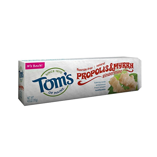 If you're looking to add a little zing to your mornings and evenings, then Tom's of Maine's Gingermint Baking Soda Toothpaste With Propolis and Myrrh ($5) deserves a space in your medicine cabinet. You'll love the clean, herbal notes of propolis and myrrh, the spiciness of ginger, and that familiar blast of freshness you get from baking soda and peppermint. This one's a cult classic for a reason. — JR