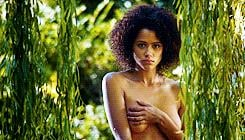 The blossoming relationship between Missandei and Grey Worm culminates during one particularly intimate encounter, when Missandei is bathing . . .  Source: HBO