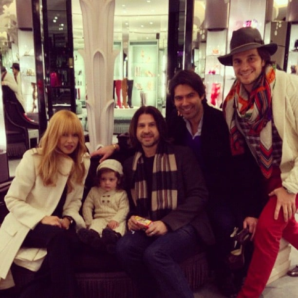 Skyler Berman joined his mom and dad out shopping. Source: Instagram user rachelzoe
