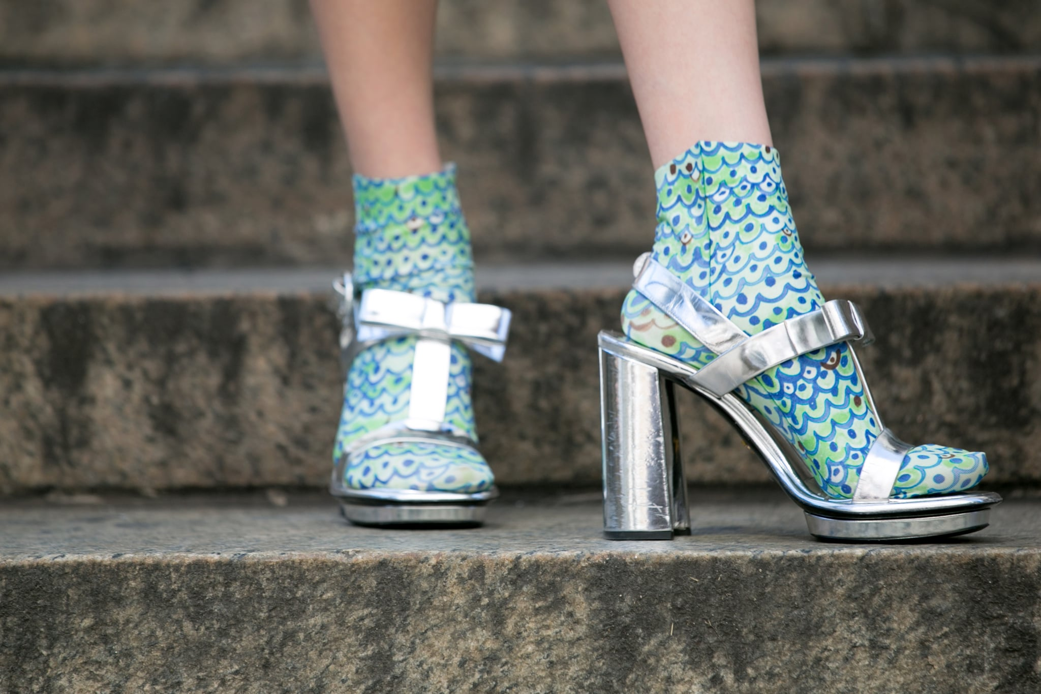 Statement shoes are even more attention-grabbing with statement socks.