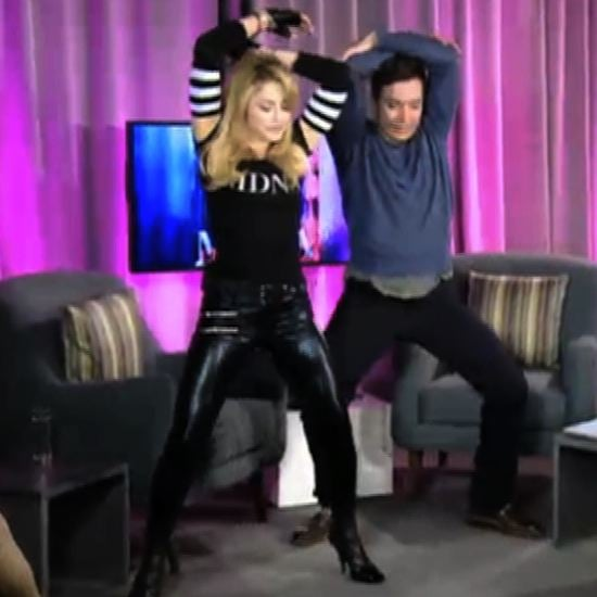 Madonna Dancing With Jimmy Fallon Video