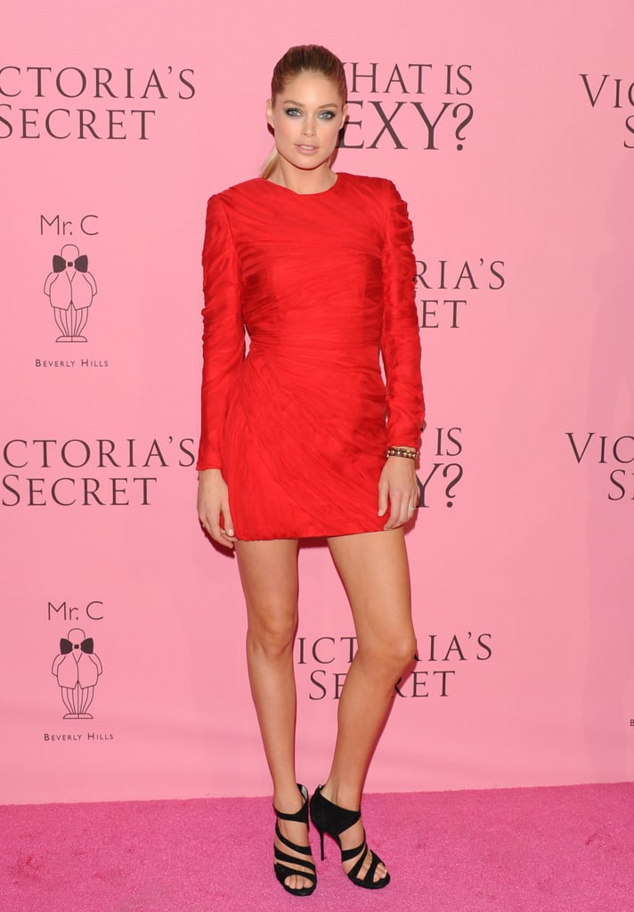 Doutzen Kroes sported a fire-engine-red mini at a Victoria's Secret event back in May.
