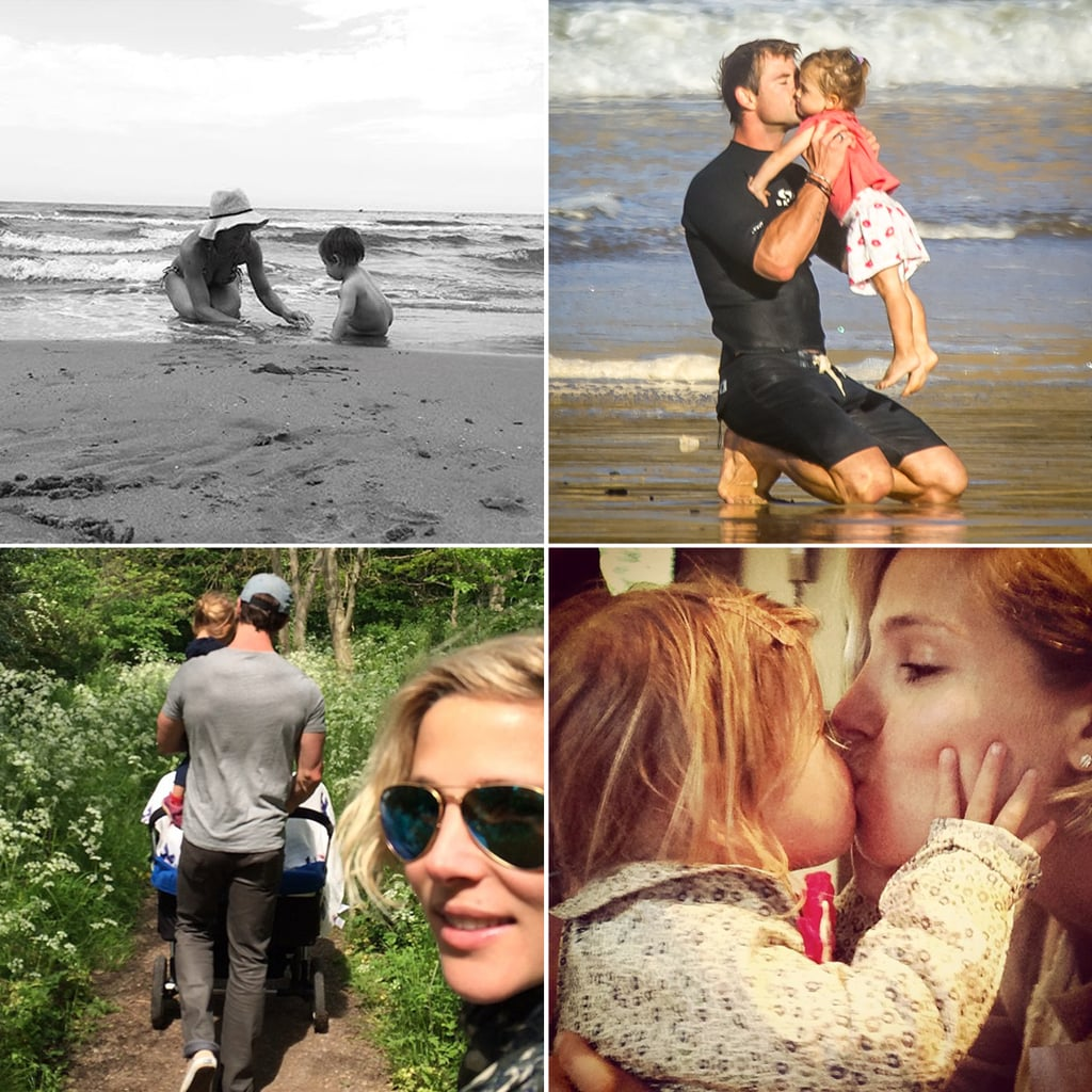 elsa pataky 39 s family photos on instagram popsugar celebrity