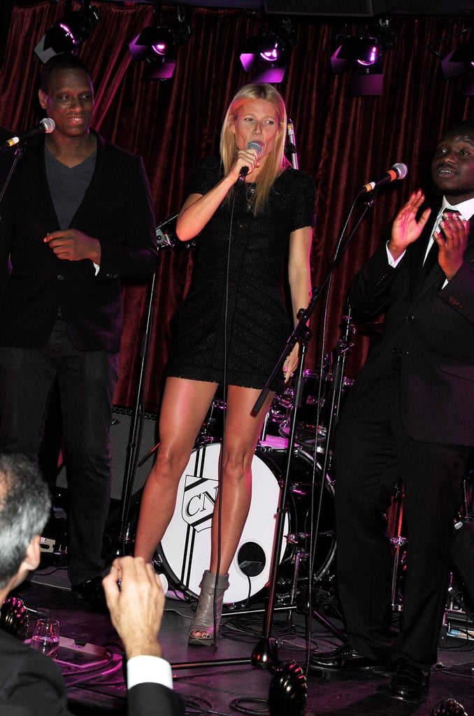 Gwyneth Paltrow sang at a private party in London.