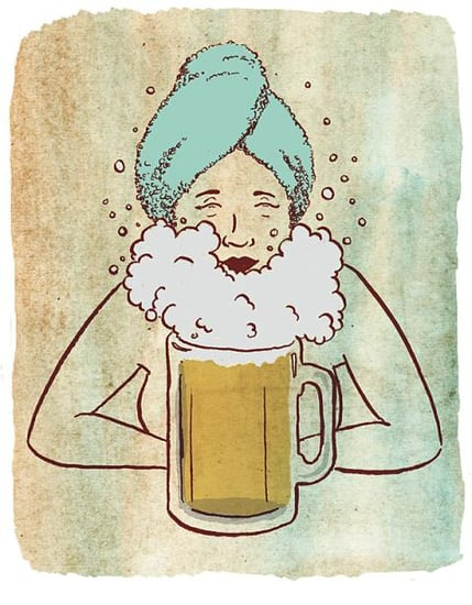 Booze It Up With a Beer Facial