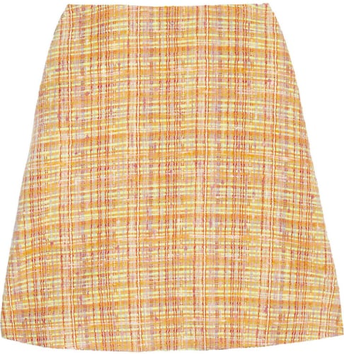 Carven Bouclé-tweed mini skirt
